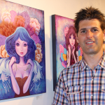Ketner posing in front of his favorite painting from the show