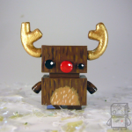 Closeup of a Micro Jellybot Reindeers