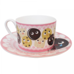 """Heidi Kenney x Click for Art """"Cookies"""" Cup and Saucer"""