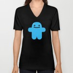 "Shawnimals  x Society 6  Huggy"" V Neck Tee"