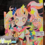 Hikari Shimoda live painting at Cotton Candy Machine