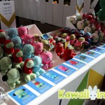 Some of the mini plushes available at the Monster Factory booth