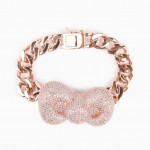 nOir x Hello Kitty Rose Gold Bow Bracelet