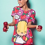 "The Simpsons x Hello Kitty ""Donuts & Apples"" Reversible Boxy Tee by JapanLA Clothing Company"