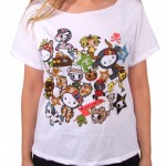 "Tokidoki for Hello Kitty Summer 2015 ""Safari Off Shoulder Shirt"""