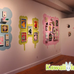 The walls of Clutter were painted especially for the Cutepocalypse to show off all the cute works even more!