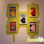 """A wall of """"MOZLA"""" paintings from DEVILROBOTS"""