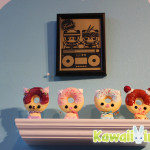 Loving this adorable print from Veggiesomething and shelf of super cute customs by Eimi Takano