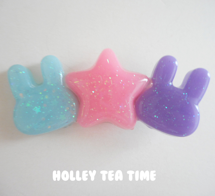 "Holley Tea Time ""Electric Pop Star Bunny"" Hair Clips"