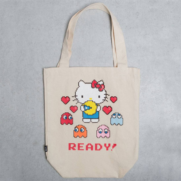 BAIT x Pac Man x Hello Kitty Tote