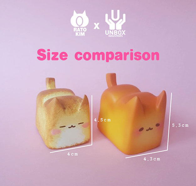 Rato Kim x Unbox Industries Breadcat Comparisons