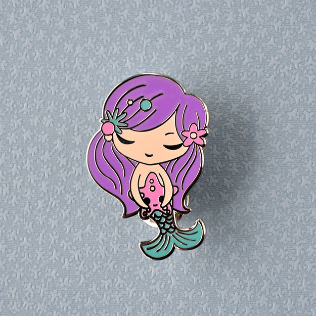 Jeremiah Ketner Mermaid Enamel Pin