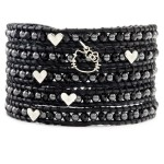 "Hello Kitty x Chan Luu ""Black Mix Wrap Bracelet"""