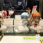 Various Nendoroid figures on display at the Good Smile Company booth