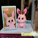 Closeup of the Kami toy at the Frombie booth