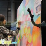 So You Lee live painting at Cotton Candy Machine