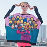 "The Simpsons x Hello Kitty ""Couch Party Poncho Sweater"""